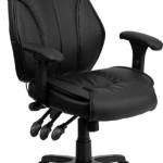 Flash Furniture High Back Leather Chair, Black
