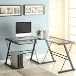 Naomi Home 3 Piece Sedalia Glass Office Desk Multi