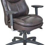Serta 45458 Smart Layers Commercial Series-400 Task Puresoft Faux Leather Task Chair, Brown