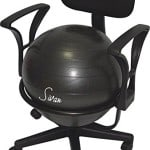 Sivan Health and Fitness Arm Rest Balance Ball Fit Chair with Ball and Pump