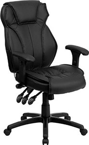 Flash Furniture High Back Black Leather Multifunction Executive Swivel Chair