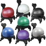 Isokinetics Inc. Brand Balance Exercise Ball Chair - Blue 52cm Ball - Exclusive: Office size 60mm/2.5