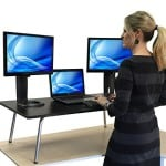 Mega Stand Steady Standing Desk / Stand up Desk - Largest Standing Desk Converter Available (Black)