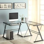 Naomi Home 3 Piece Sedalia Glass Office Desk Multi