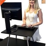 The Original Stand Steady Standing Desk - Converts Your Desk to Stand up Desk, Adjustable Height (Black)