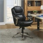 Serta 44186 Back in Motion Health and Wellness Mid-Back Office Chair, Black