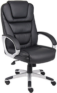 Boss Office Products High Back LeatherPlus Chair